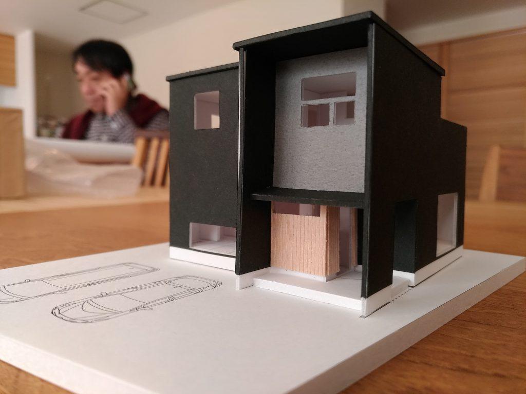 家づくりの打合せ 模型