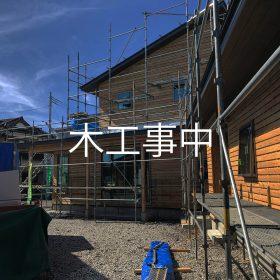 デザイナーズハウス 木工事