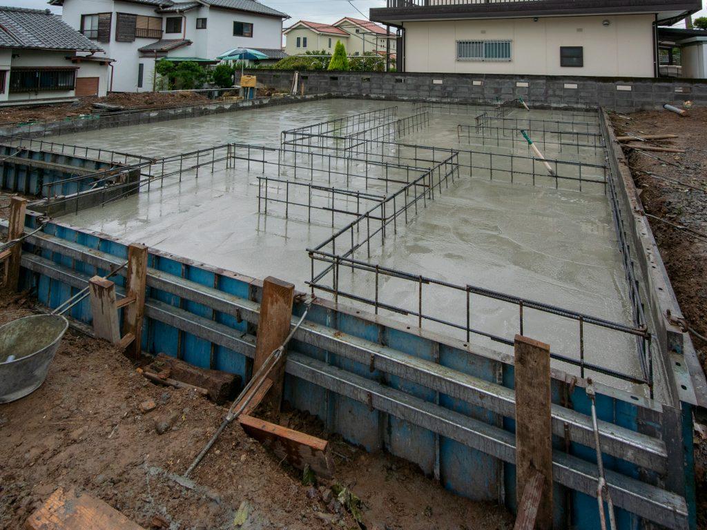 三島市,建築家住宅,注文住宅の基礎工事
